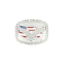 Men's US Flag with Eagle Belt Buckle