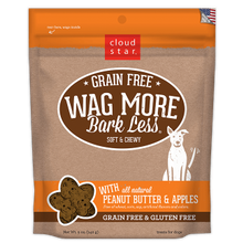 Grain Free Wag More Bark Less All Natural Peanut Butter & Apple Soft & Chewy Dog Treat