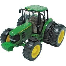 Toy Tractor With Duals, Plastic, Green