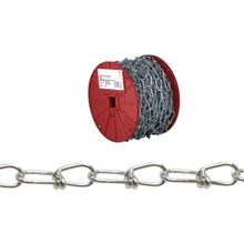 072 2627 Double Loop Chain, No 1, 125 Ft L, 155 Lb, Low Carbon Steel
