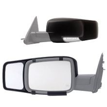 1 pr Snap-On Black Towing Mirror for Dodge RAM 1500/2500/3500