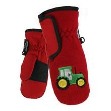 Toddler Boys' Sport Fleece Taslon Ski Mitten With Embroidered Design