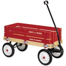 Wagon, 150 Lb Capacity, Wood, Red
