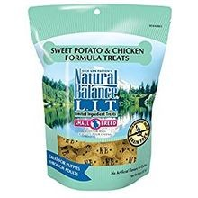 L.I.T. (Limited Ingredient Treats) Sweet Potato & Chicken Formula Small Breed Dry Dog Treats 8 oz