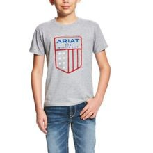 Boy's Grey US Shield Tee