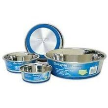 OurPets Premium Rubber-Bonded Stainless Steel Dog Bowl - 4.5 QT
