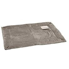 Self-Warming Pet Crate Pad in Gray