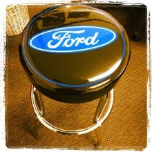 Ford Logo Garage Stool