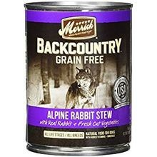 Backcountry Grain Free Alpine Rabbit Stew Canned Dog Food 12.7 oz