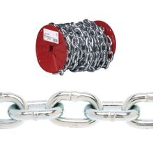 Pd0725027 Proof Coil Chain, 3/16 In X 100 Ft, 800 Lb, Low Carbon Steel