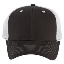Mesh-Back Cotton Twill Cap, Silver/Black