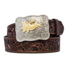 Boys' Belt With Bullrider Buckle