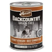 Backcountry Grain Free Chunky Venison & Beef Dinner in Gravy Canned Dog Food 12.7 oz