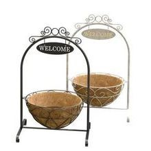 French Country Welcome Stand with Hanging Basket Assortment