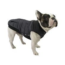 Grey Stretch Dog Puffer Vest