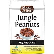 Organic Wild Jungle Peanuts 8 Oz