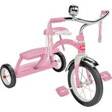 33p Dual Deck Tricycle, 49 Lb Weight Capacity, 12 X 1 1/4 In Front Wheel, 7 X 1 1/2 In Rear Wheel, Pink