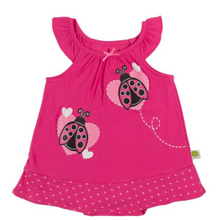 Infant Girls' Sleeveless Lady Bug Romper Dress