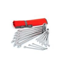 14 Pc SAE Wrench Set Combo w/ Canvas Roll