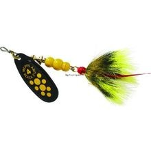 Black Fury Dressed Treble 1/3-Ounce Yellow Dot/Black Yellow Tail Lure