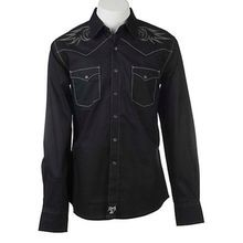 Men's Rock 47 Embroidered Long-Sleeve Snap Shirt