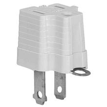 Single Outlet Grounding Adapter with Grounding Lug