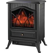 Nd 18d2s Electric Fireplace Heater, 120 V, 12.5 A, 750 1500 W, 160 Sq Ft, Black