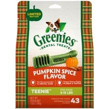 Pumpkin Spice Flavor TEENIE™ Size Dog Dental Treats