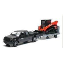 1:18 Pick Up & Trailer with Kubota SVL Track Loader