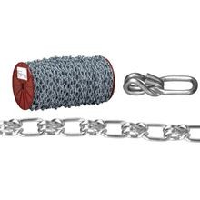 072 2427 Lock Link Single Wrapped Loop Chain, 3/0, 50 Ft L, 405 Lb, Low Carbon Steel