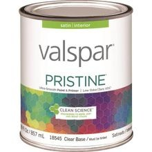 1 Quart Stain Clear Base Pristine Latex Paint & Primer