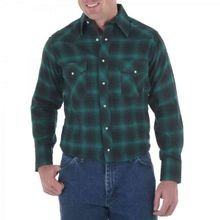 Men's Western Long Sleeve Flannel Plaid Shirt