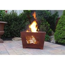 Fancy Flames Wood Burning Eagle Fire Pit