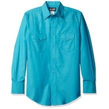 Men's Silver Edition Long-Sleeve Solid Green Shirt