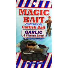 10 Oz Magic Bait Garlic & Chicken Blood Catfish Bait