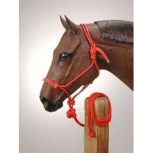 Poly Rope Tied Halter with Lead