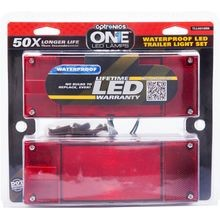 LED Low Profile Marine Trailer Light Set With Mounting Hardware