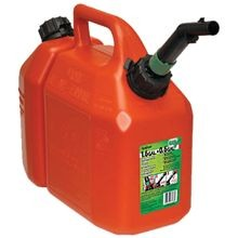 Gas Can, 1.5 Gal, 11 In H, Self Venting, Plastic, Red
