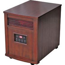 Qeh1501 Infrared Portable Electric Heater, 5120 Btu, 1000 Sq Ft, 750 W