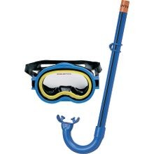 Marketing 55942 Adventurer Mask/snorker Swim Set, For Use With Age 8+ Years, Pvc, Blue