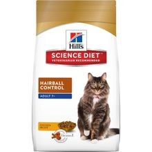 Adult 7+ Hairball Control Chicken Recipe Dry Cat Food