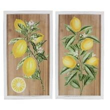 Young's Inc 2 Assorted Wood Lemon Tree Wall Art