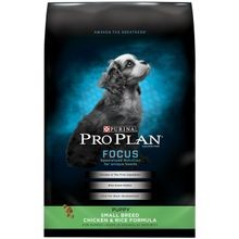 Pro Plan Focus Puppy Small Breed Chicken & Rice Dry Dog Food