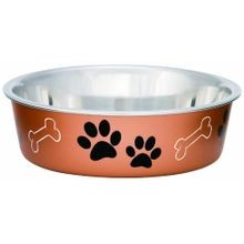 Bella Bowls Metallics Copper Small Pet Dish