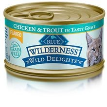 Wilderness Wild Delights Adult Grain-Free Flaked Chicken & Trout In Gravy Canned Cat Food 3 oz
