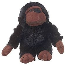 Look Who's Talkin Loofa Chimp Plush Dog Toy