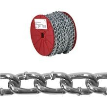 072 2527 Twist Link Machine Chain, 2/0, 70 Ft L, 520 Lb, Low Carbon Steel