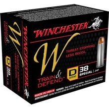 Train & Defend Handgun Ammunition 38 Special JHP 130 Grain