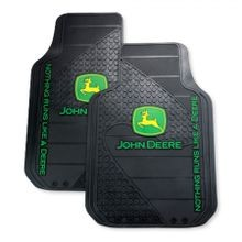John Deere Trim-To-Fit Auto Floor Mat Pair