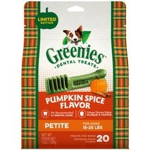 Pumpkin Spice Flavor Petite Size Dog Dental Treats